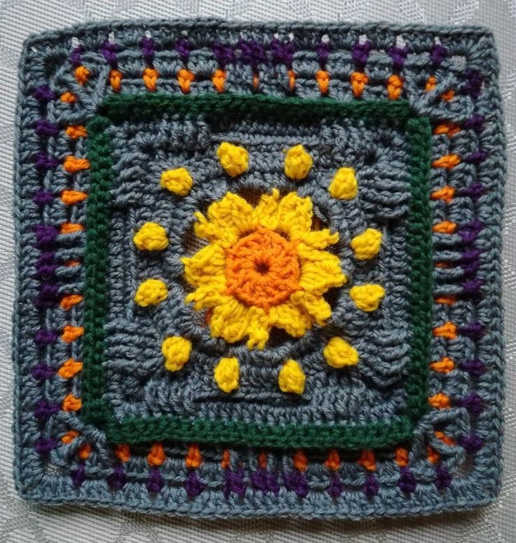 Part4: KÄTKETTY AURINKO - HIDDEN SUN. Designed by Susku Öysti. Crocheted by Päivi M