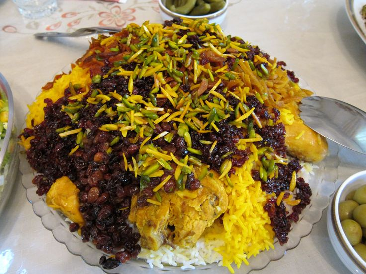 jawaher polo or jewel rice a traditional Persian meal