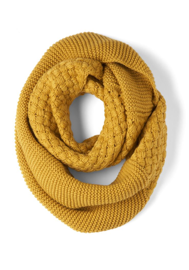 Yellow Brick Cold Scarf, #ModCloth