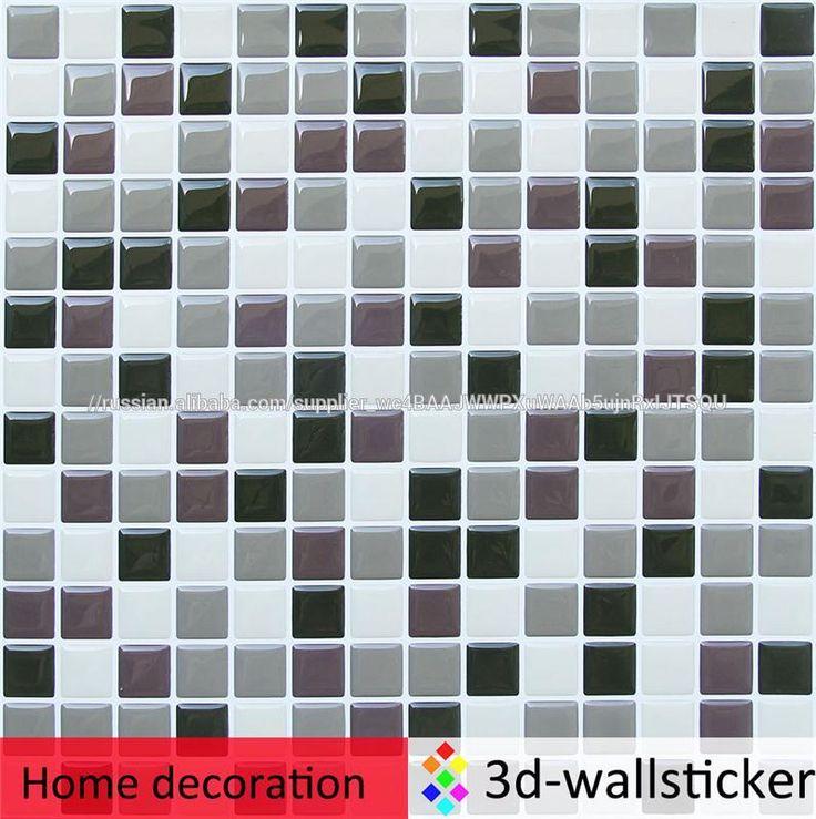 Высокое качество self палку дизайн гель 3d плитка стены наклейки для стен ванной комнаты