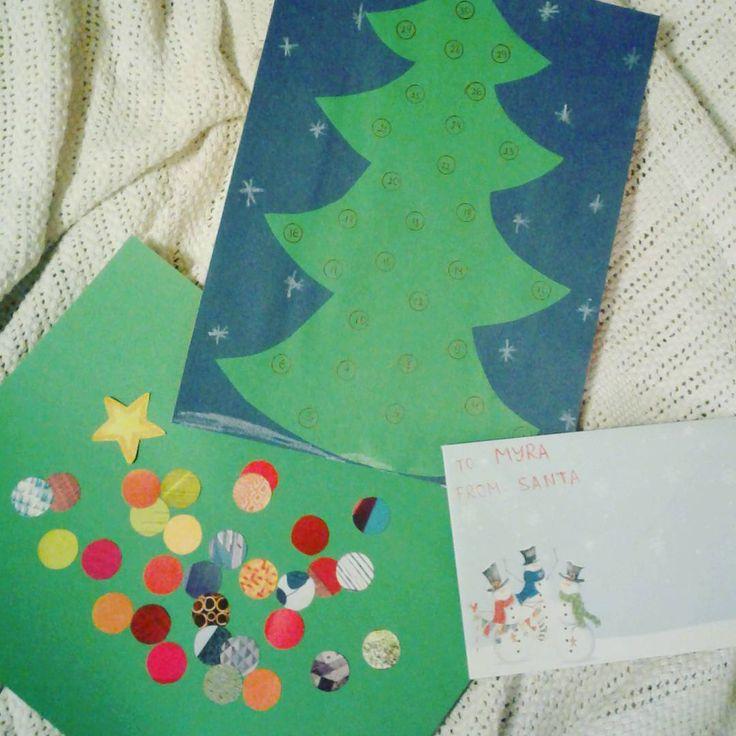 Наша подготовка к Новогоднему ЭкоМама Марафону - елочка, игрушки на ёлку и конверт для писем от Санты. #Ecomammy_NY_2017