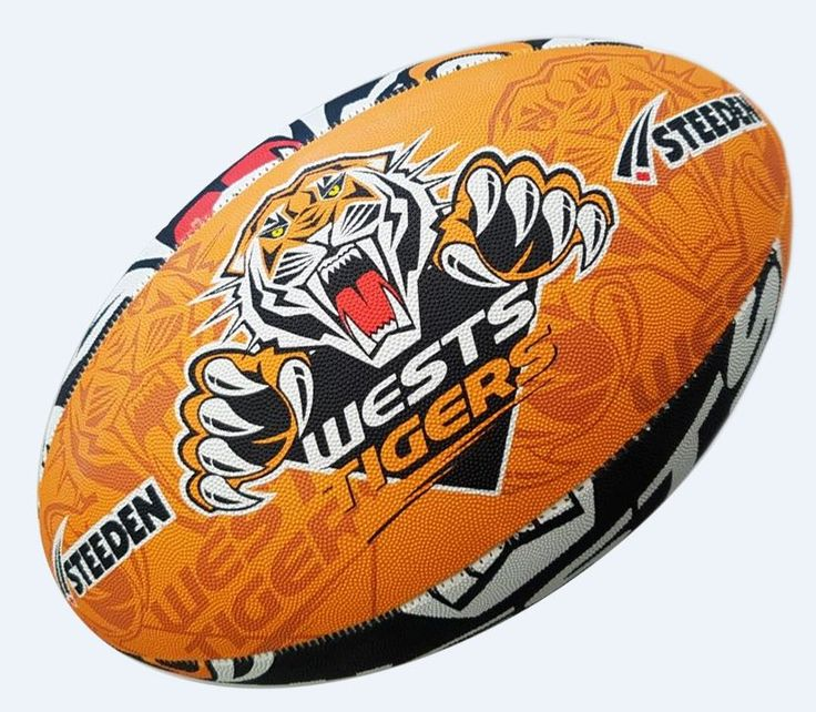 Sydney Wests Tigers Rugby Ball by Steeden
