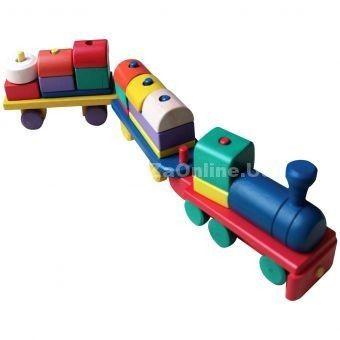 Jual Wooden Toys Balok Kereta Api | Order 085643605261