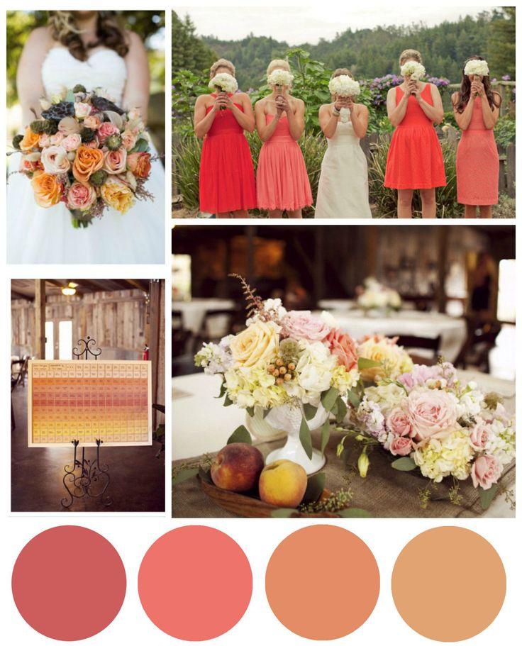 Salmon & Coral Wedding Inspiration