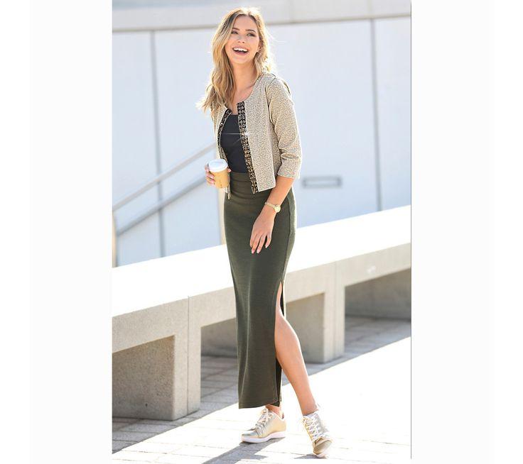 Dlhá sukňa s pružným pásom | modino.sk  #modino_sk #modino_style #style #fashion #newseason #autumn #fall