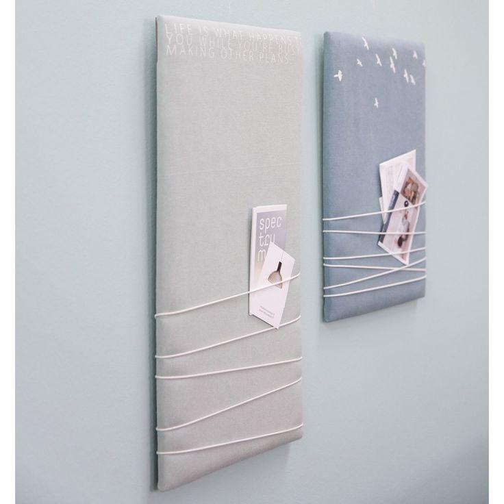 fabriquer panneau affichage en tissu | Panneau affichage en tissu pour photos à épingler Rader 30x45cm ...