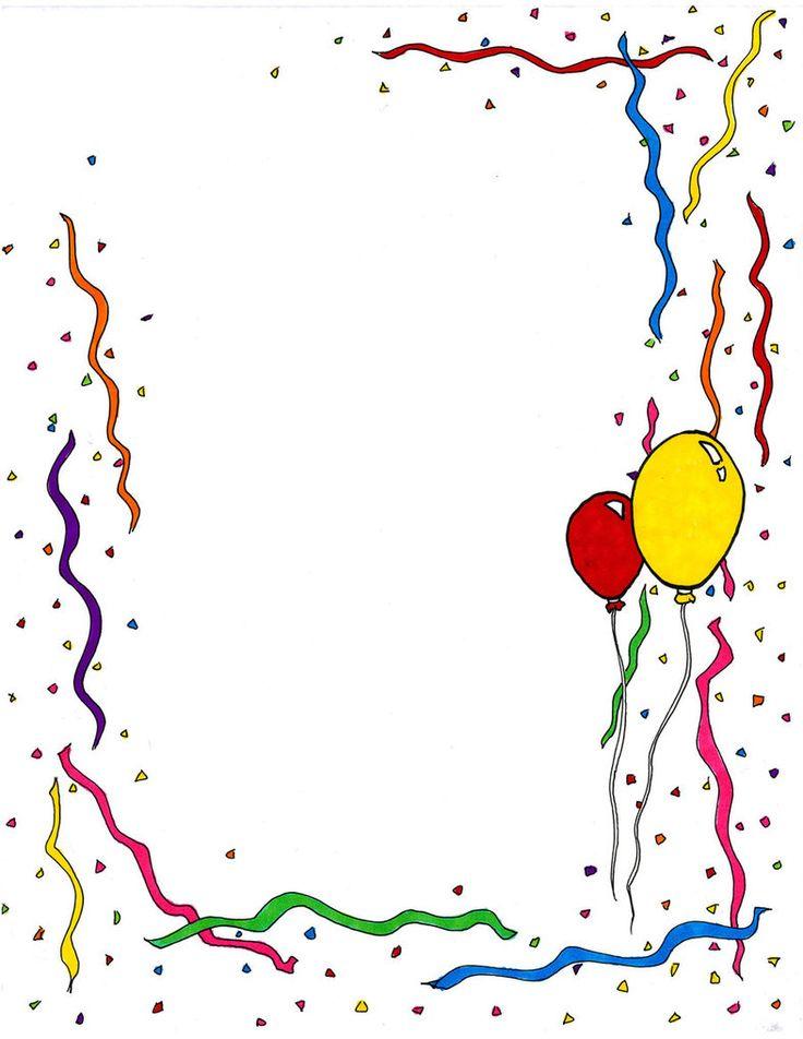 20++ Happy birthday border clipart ideas