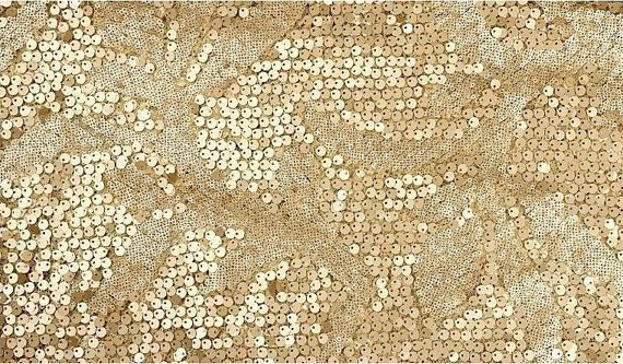 Gold Sequin Fabric Super Luxury Wedding Bridal Gown Dress Fabric Shower Lace Fabrics. $15.90, via Etsy.