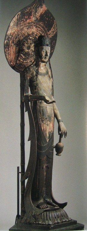 百済観音(法隆寺)Kudara Guanyin, Hōryū-ji, Japan. ca. 650?