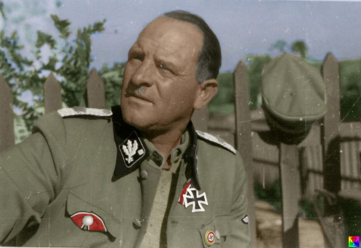 Sepp Dietrich in Greece, 1940. He said that the highlight of his career was accepting the Greek surrender - the Greeks didn't want to give it to the Italians, whom they despised.