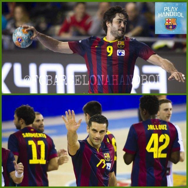 Raúl #entrerrios @raulentrerrios  Kiril #lazarov @klazarov77  #fcbarcelonahandbol