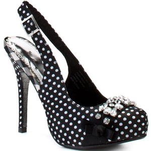 Via @shannonstacey, my shoe p0rn of the day. These are adorable. I'd totally wear these! : Monkey Dolls, Naughti Monkey, Monkey Woman, Polka Dots, Bling Shoes, Woman Dolls, Woman Shoes, Black White, Heels Com
