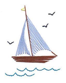 boat stitch card pattern
