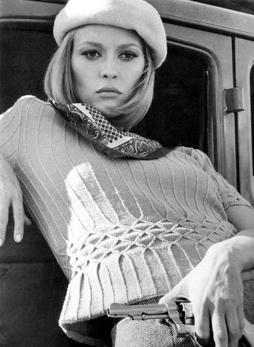 Faye Dunaway-probably her most famous role: The Legend of Bonnie and Clyde