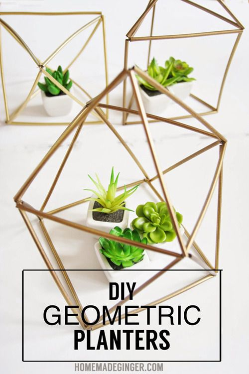 It's no surprise I'm a fan on Scandinavian minimalism. These geometric planters are a spin on the classic Finnish Himmeli, refashioned as planters. Best of all they are made from cheap supplies from the dollar store! Detailed instructions on creating your own can be found at the link below. DIY Geometric Planters via Homemade Ginger