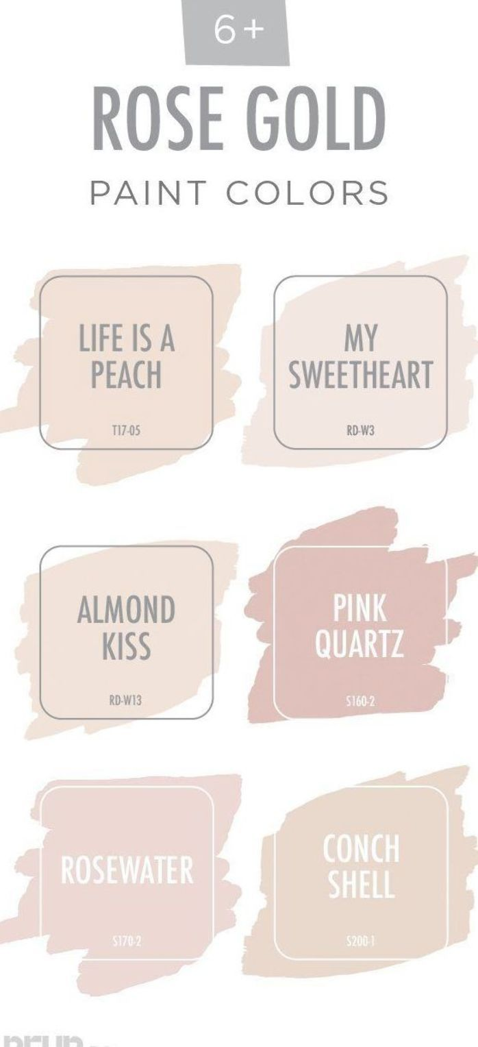 View Your Life Through Rose Colored Glasses With This Rose Gold Color Palette From Behr Paint T Girls Room Colors Palette Pink Paint Colors Rose Gold Painting
