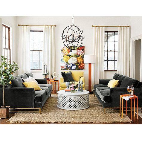 Ballard Living Room Orb ChandelierChandeliersLiving
