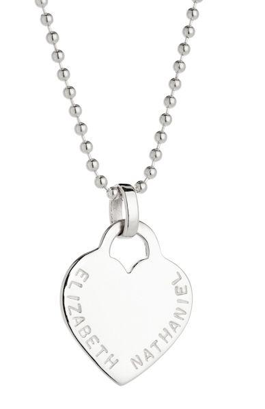 Sterling silver heart pendant. By Koolaman Designs.