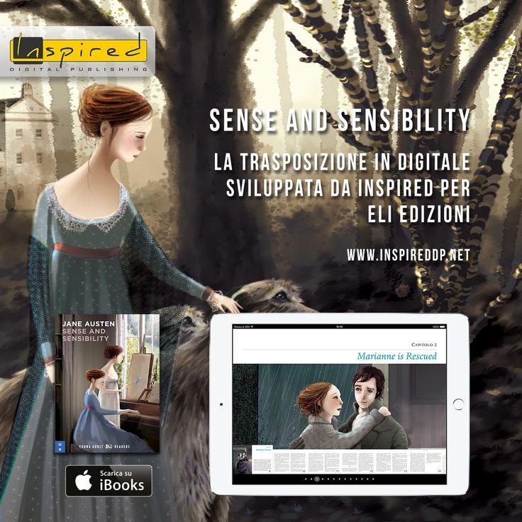 """Per la casa editrice ELI, ecco il nostro lavoro sul libro """"Sense and Sensibility"""", in formato digitale. Impaginazione per iPad orizzontale e verticale, esercizi per controllare l'apprendimento, focus on con gallerie, supporto retina display. A voi piace Jane Austen? www.inspireddp.net/portfolio/sense-and-sensibility/"""