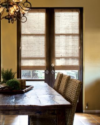 roman shade for front door :: privacy, glass front door, home renovation, textiles
