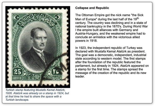 #history and #Atatürk #stamps