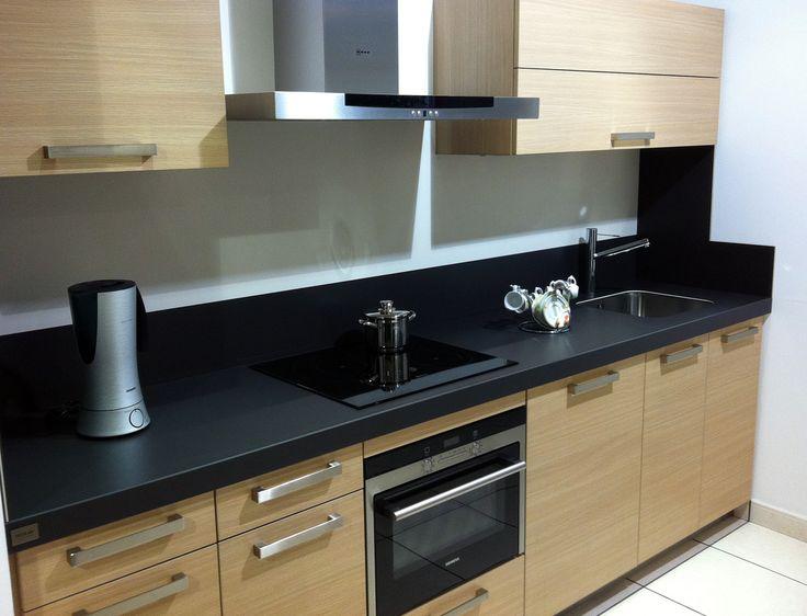 Cocina con encimera silestone y frente roble veta - Cocina roble ...