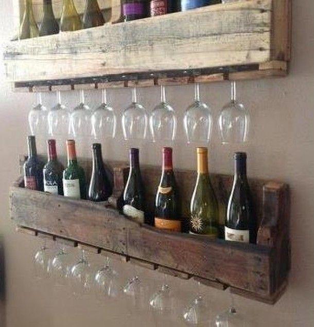 Leuk idee voor een wijnrek!
