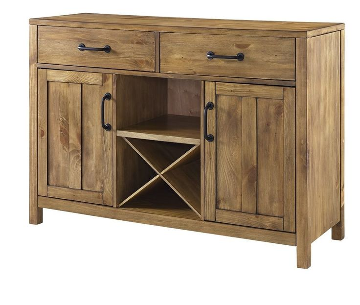 Buffet Table With Wine Rack Dining Room Storage Sideboard Cabinet Solid Wood