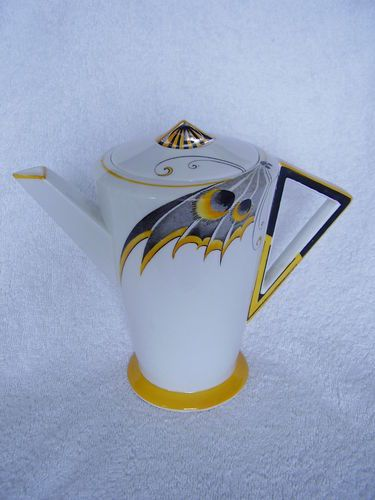 Shelley Art Deco Rare Butterfly Wing coffee pot | eBay