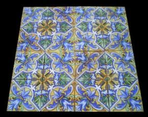We offer these beautiful spanish handpainted majolica tiles in excellent condition.We have also other models,please check out our web site for more information here : WWW.LUXURYSTYLE.ES