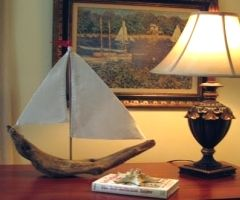 drift wood sail boat