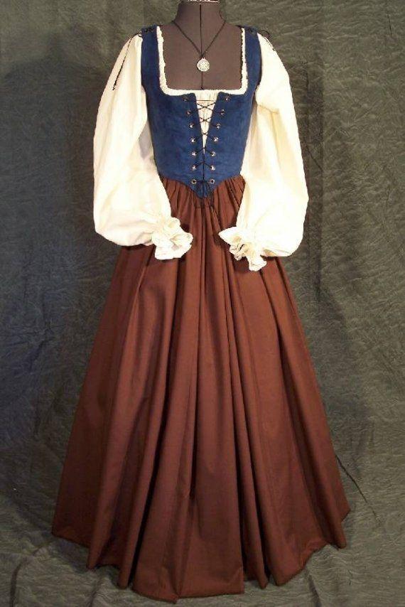 Renacimiento Faire moza doncella la blusa por thewencheswardrobe
