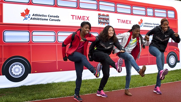 Canadian Olympic Hurdlers - Perdita Felicien, Priscilla Lopes-Schliep, Nikkita Holder, and Phylicia George