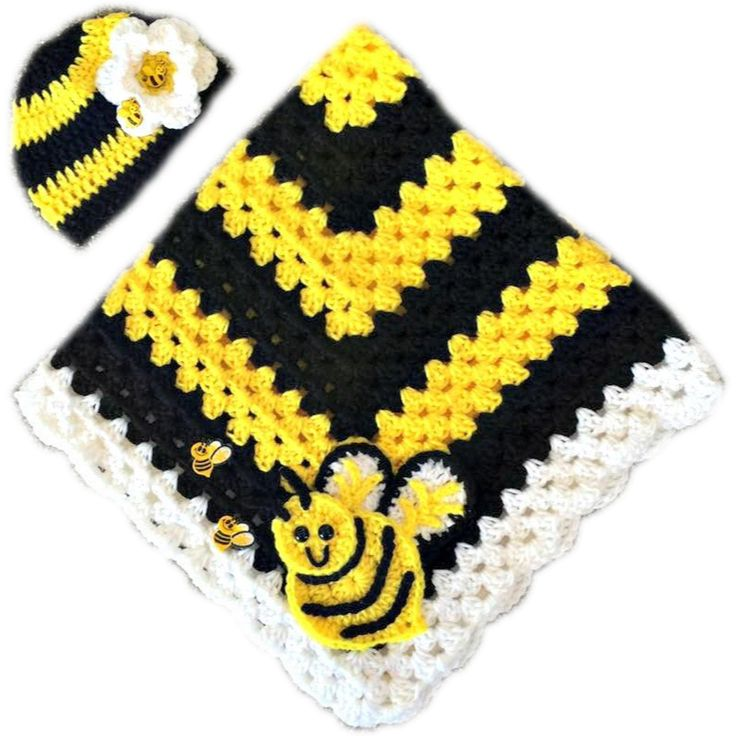"""Newborn blanket and hat set. Comes wrapped with ribbon and a bow, and a pacifier. Please specify boy or girl. Blanket measures 30"""" x 30"""", hat fits 0-3 months. Available in Toddler size as well (40"""" x"""