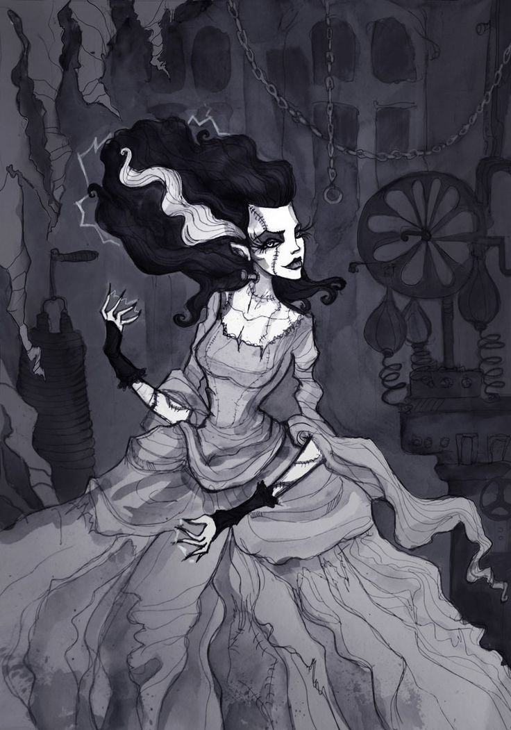 Bride of Frankenstein by IrenHorrors.deviantart.com on @deviantART
