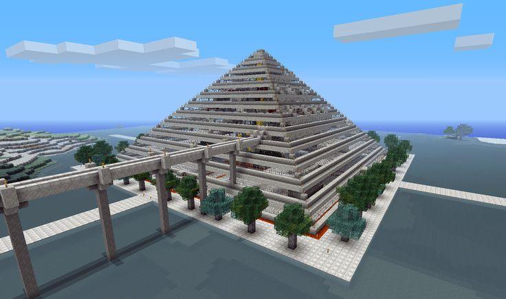Minecraft hotel Design   Minecraft Pyramid Mall n hotel by poste744
