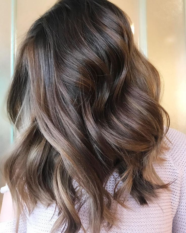 "@stephanie_stylist on Instagram: ""I can picture this gorgeous chocolate dream hair with a red chunky sweater, ripped jeans & a pair…"""