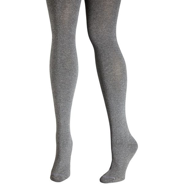 Avenue Basic Sweater Tight ($19) ❤ liked on Polyvore featuring intimates, hosiery, tights, medium grey and plus size