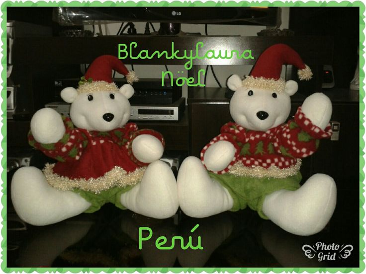 Ositos polares de navidad sentados