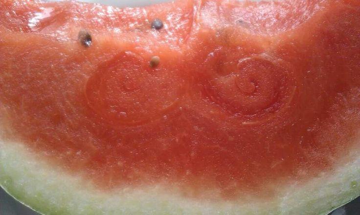 Watermelon mustache