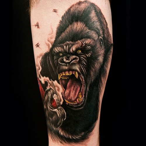 king kong tattoo i want it tattoos pinterest king