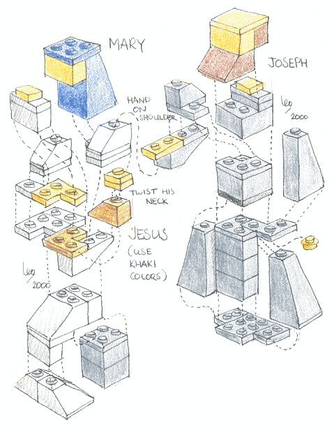 Make Your Own LEGO Nativity Scene University of Amsterdam Science Staff | Apartment Therapy