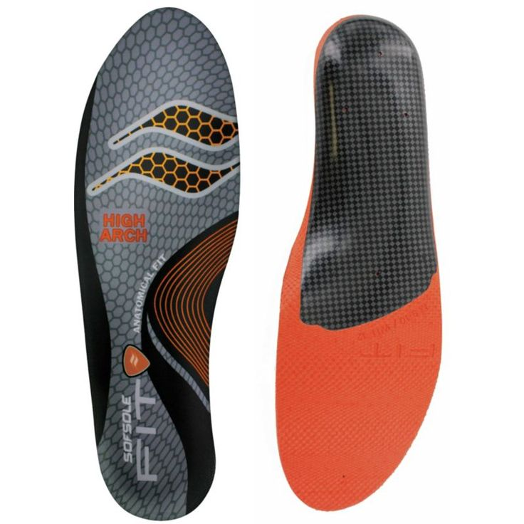Sof Sole Fit High Arch Insole, Orange