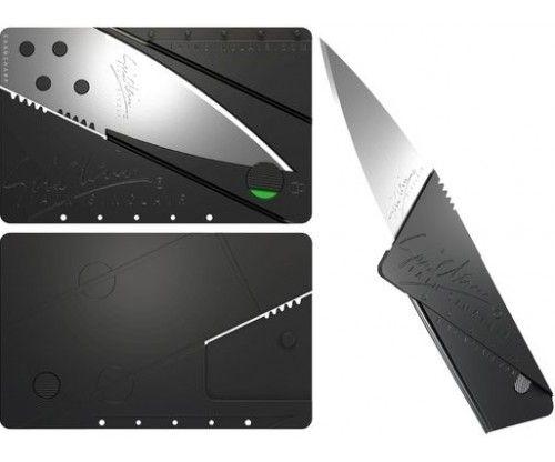 Kártya kés - összehajtható Cardsharp bicska. Utazóknak, túrázóknak hasznos outdoor ajándék ötlet, mely egy tárcában is jól elfér.