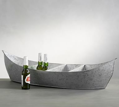 Galvanized Party Boat Cooler #potterybarn