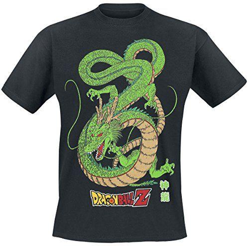 Dragon Ball Z Shenron T-shirt noir: Tee-shirt Dragon Ball Coupe ample et tubulaire Col rond ras du cou double épaisseur en côte 1×1 100%…