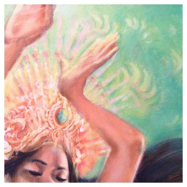 Work in progress of my Ratu Kidul painting, sea goddess of Java, Indonesia ❂ www.tamarapatrick.com