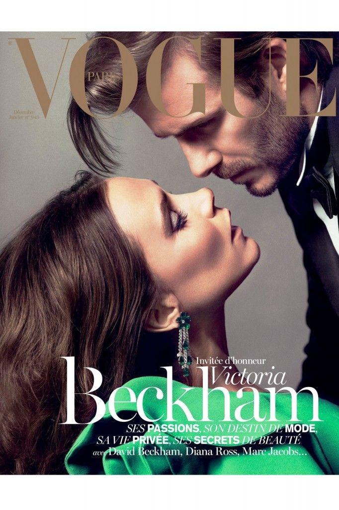 Victoria Beckham photoshoot with David Beckham - Vogue Paris Magazine