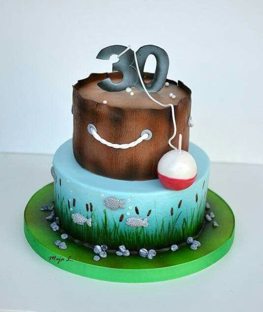 Salmon Birthday Cake: 30 Best Images About FISHING Cakes On Pinterest