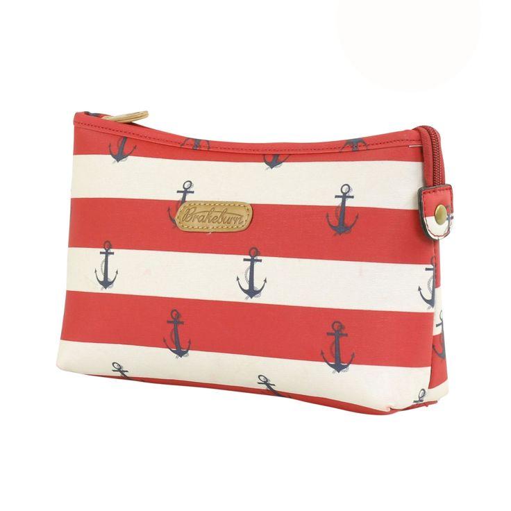 Brakeburn Anchor Wash Bag in Nautical Stripe